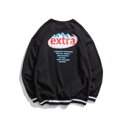 Extra Sweaters - affordable Cheap Clothes Mens Longsleeves Quality - black sweatshirt / M