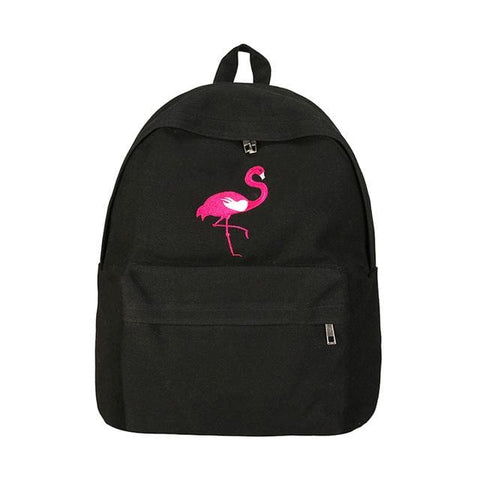 Flamingo Backpacks - affordable Cheap Clothes Quality styles - Black