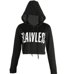FLAWLESS Cropped Hoodies - affordable Cheap Clothes Crop Tops Hoodies