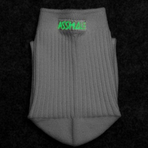 Fluorescent Profanity Socks - affordable Cheap Clothes Quality styles - A-hole White