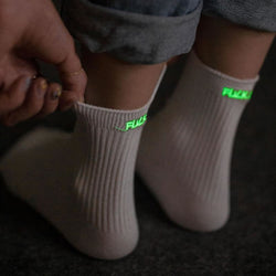 Fluorescent Profanity Socks - affordable Cheap Clothes Quality styles