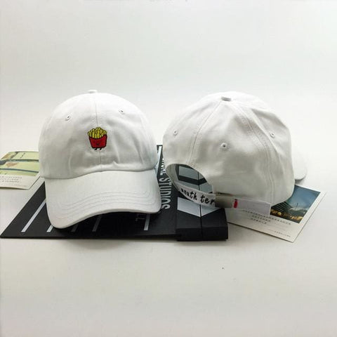 French Fries Hats - affordable Cheap Clothes Hats Quality - White