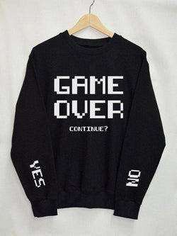 Game Over Longsleeve Sweatshirts - affordable Cheap Clothes Quality styles