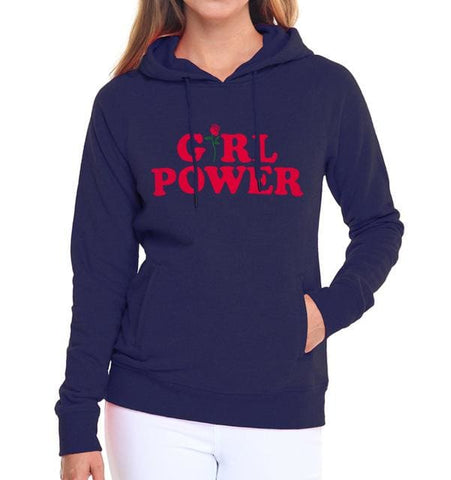 Girl Power Hoodies - affordable Cheap Clothes Quality styles - dark blue / S