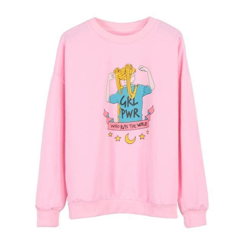 GRL PWR Sweaters - affordable Cheap Clothes Quality styles - Pink / One Size