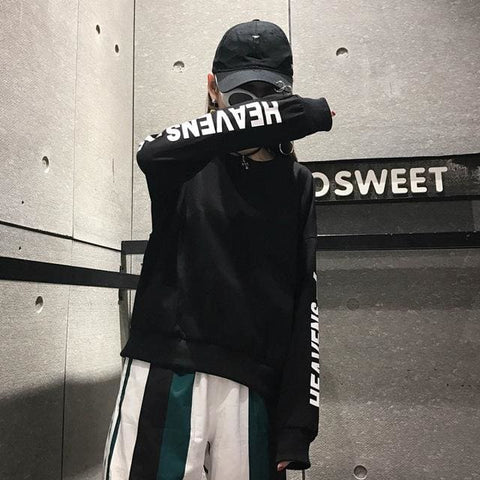 Heavens Longsleeves - affordable Cheap Clothes Quality styles - Black / L