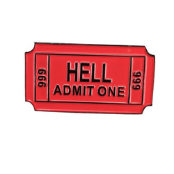 Hell Admit One One Ticket Pins - affordable Cheap Clothes Quality styles
