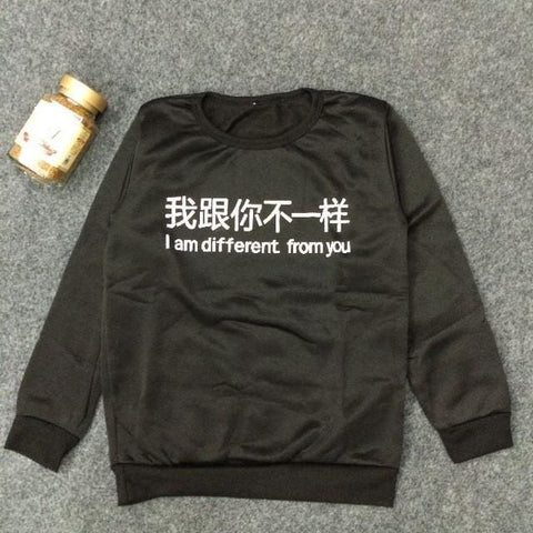 I Am Different From You Longsleeve - affordable Cheap Clothes Quality styles