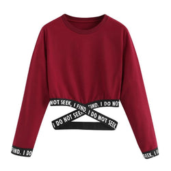 I Do Not Seek I Find Longsleeve Crop Tops - affordable Cheap Clothes Quality styles