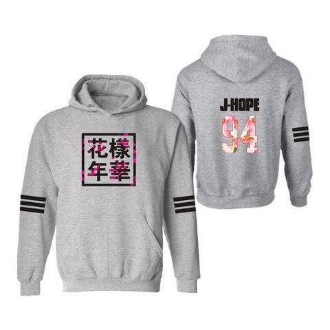 J HOPE Hoodies + Plus Sizes - affordable BTS Cheap Clothes Quality - gray 2 / S