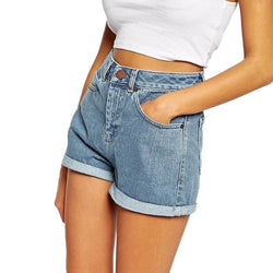 Jasmine High Waist Denim Shorts - affordable Cheap Clothes Quality Shorts