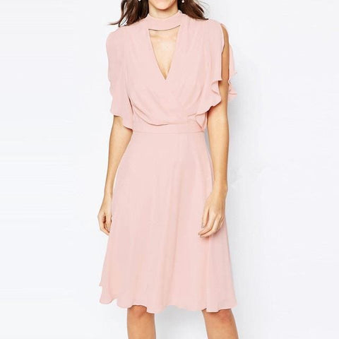 Jesse Dress - affordable Cheap Clothes Quality styles - Peach / S