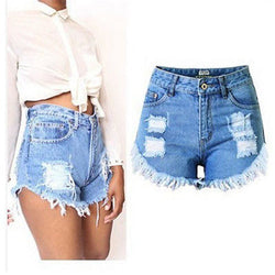 Julissa Distressed High Waist Denim Shorts - affordable Cheap Clothes Quality Shorts