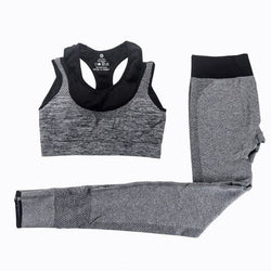 Kenni Bra+Leggings Set - affordable Cheap Clothes Quality Sets - Gray / L