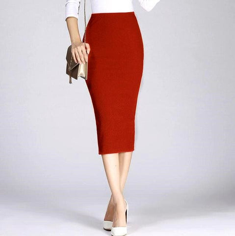 Kia Midi Skirt - affordable Cheap Clothes Quality skirts - wine / One Size
