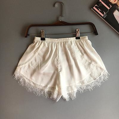 Laced in Love Silk Shorts - affordable Cheap Clothes Quality styles - white / M