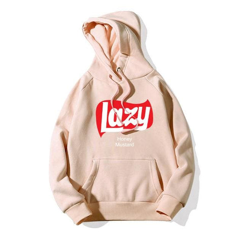 Lazy Hoodies - affordable Cheap Clothes Mens Hoodies Quality - Beige / L