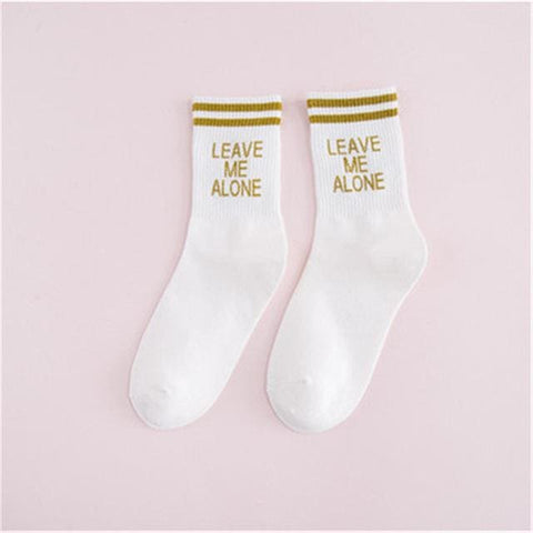 Leave Me Alone Socks - affordable Cheap Clothes Quality styles