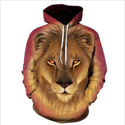 Lion 3D Hoodies - affordable Cheap Clothes Mens Hoodies Quality - picture color 22 / S