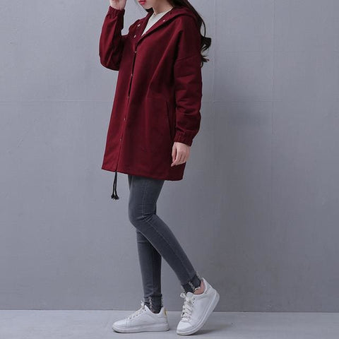 London Coats - affordable Cheap Clothes Quality styles - Burgundy / S