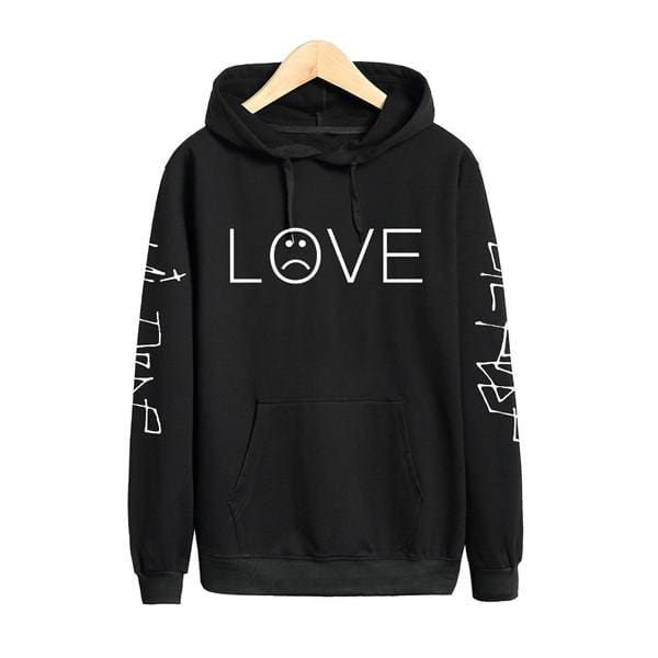 LOVE Hoodies - affordable Cheap Clothes Mens Hoodies Plus Size - Black / S