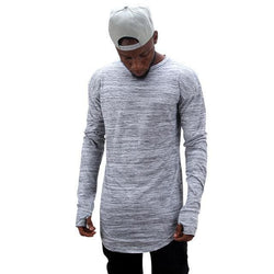 Marble Longsleeves - affordable Cheap Clothes Quality Streetwear Tops - Gray / S
