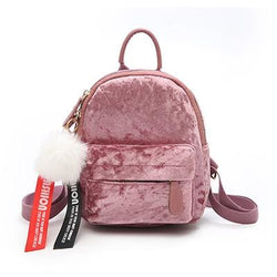 Meechie Mini Velvet Backpacks - affordable Cheap Clothes Quality styles - Pink
