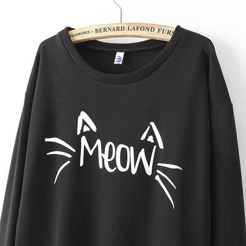 Meow Sweaters - affordable Cheap Clothes Longsleeves Quality