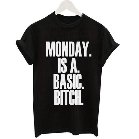 Monday Is A Bitch Shirts - affordable Cheap Clothes Quality styles - Black / S