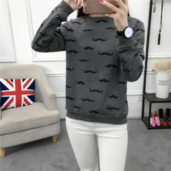 Mustache Sweater - affordable Cheap Clothes Longsleeves Quality