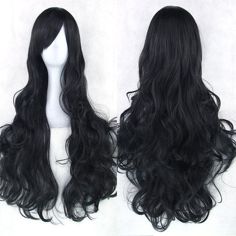 Myla Synthetic Wigs (20 SHADES) - affordable Cheap Clothes Long Length Quality - black / 32inches