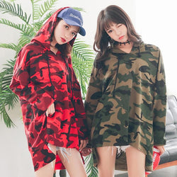 Oversized Camo Hoodies - affordable Cheap Clothes Quality Streetwear Tops