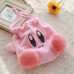 Pink Plush Drawstrings