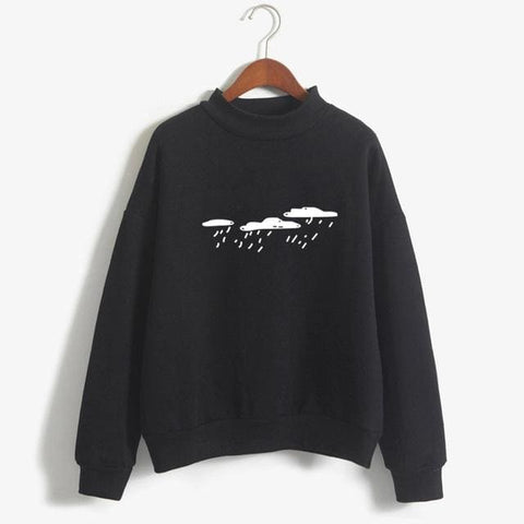 Rainy Day Sweaters - affordable Cheap Clothes Quality styles - Black / M