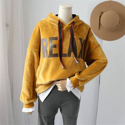 RELAX Hoodies - affordable Cheap Clothes Quality Streetwear Tops - Yellow / One Size