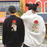 Rose Embroidery Sweaters - affordable Cheap Clothes Longsleeves Mens Longsleeves