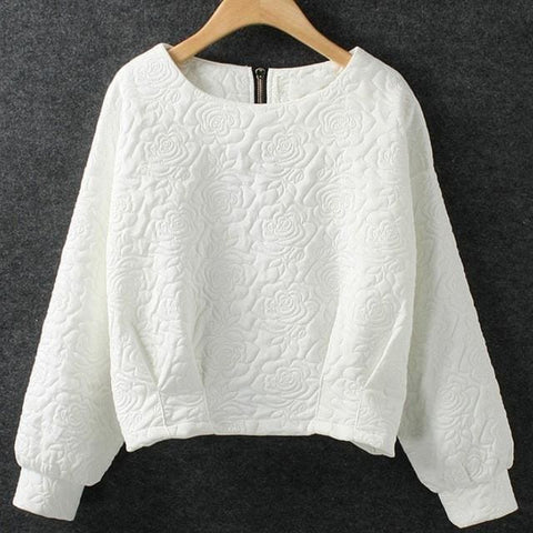 Rose Sweaters - affordable Cheap Clothes Quality styles - White / L