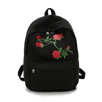 Rosey Printed Backpacks - affordable Cheap Clothes Quality styles - Black / 27cm 38cm 11cm