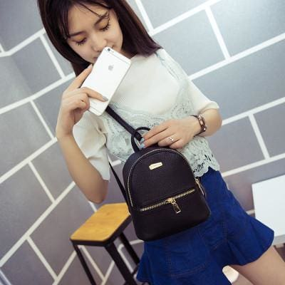 Sakura Mini Backpacks - affordable Backpacks Cheap Clothes Quality - Black