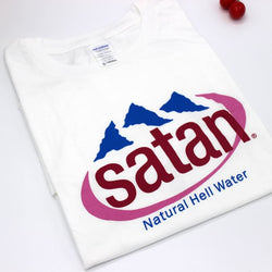 Satan Natural Hell Water Shirts - affordable Cheap Clothes Quality Streetwear Tops