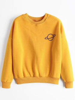 Saturn Sweaters - affordable Cheap Clothes Quality Streetwear Tops - Yellow / One Size