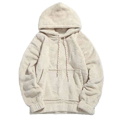 Sherpa Candy Striped Hoodies - affordable Cheap Clothes Quality Streetwear Tops