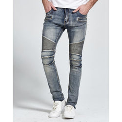 Skinny Biker Jeans - affordable B.A.P Cheap Clothes Mens Bottoms