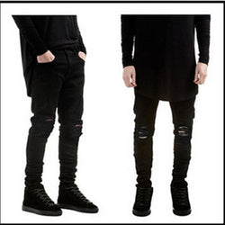 Slim Fit Destroyed Jeans - affordable Cheap Clothes Mens Quality