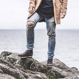 Slim Ripped Jeans - affordable Cheap Clothes Jeans Mens Bottoms