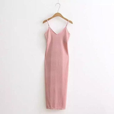 Slip into Velvet Dress - affordable Cheap Clothes Quality styles - pink / One Size