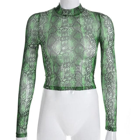 Snake Pattern Turtlenecks - affordable Cheap Clothes Quality styles - Snake Print / L