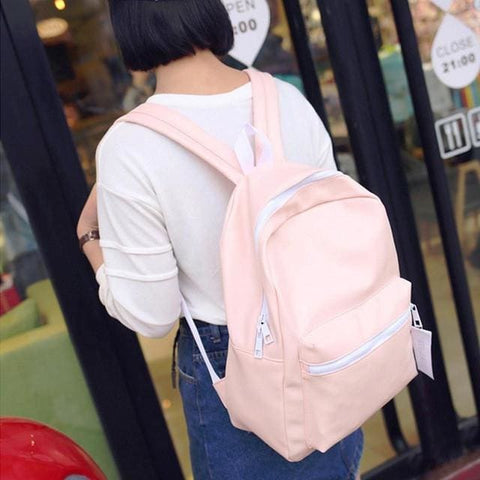 Solid Backpacks - affordable Cheap Clothes Quality styles - Pink