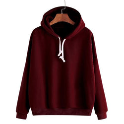 Solid Hoodies - affordable Cheap Clothes Quality Streetwear Tops - Burgundy / XS / Warehouse