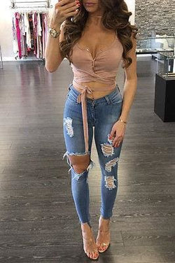 Sophia Wrap Crop Tops - affordable Cheap Clothes Quality styles